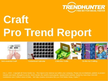 Craft Trend Report and Craft Market Research