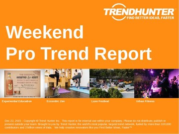 Weekend Trend Report and Weekend Market Research