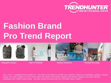 Fashion Brand Trend Report and Fashion Brand Market Research