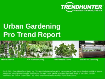 Urban Gardening Trend Report and Urban Gardening Market Research