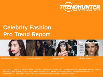 Celebrity Fashion Trend Report and Celebrity Fashion Market Research
