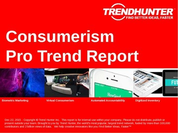 Consumerism Trend Report and Consumerism Market Research