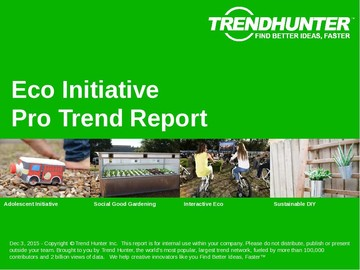 Eco Initiative Trend Report and Eco Initiative Market Research