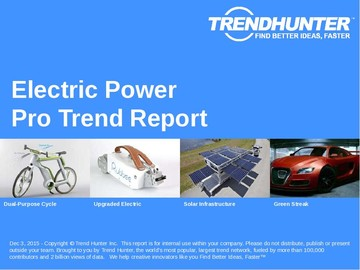 Electric Power Trend Report and Electric Power Market Research