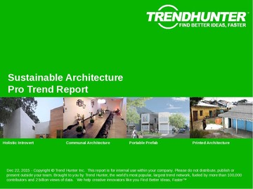 Sustainable Architecture Trend Report and Sustainable Architecture Market Research