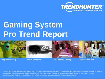 Gaming System Trend Report and Gaming System Market Research