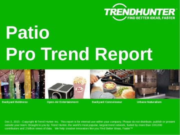 Patio Trend Report and Patio Market Research