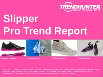 Slipper Trend Report and Slipper Market Research