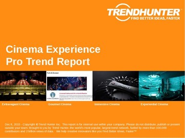 Cinema Experience Trend Report and Cinema Experience Market Research