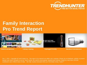 Family Interaction Trend Report and Family Interaction Market Research