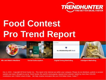 Food Contest Trend Report and Food Contest Market Research