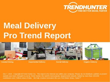 Meal Delivery Trend Report and Meal Delivery Market Research