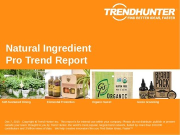 Natural Ingredient Trend Report and Natural Ingredient Market Research