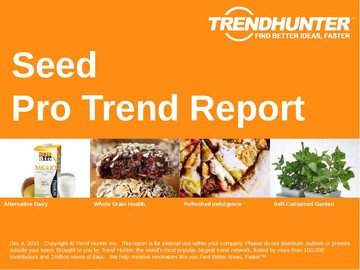 Seed Trend Report and Seed Market Research