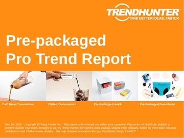 Pre-packaged Trend Report and Pre-packaged Market Research