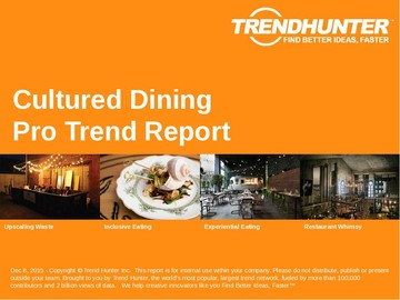 Cultured Dining Trend Report and Cultured Dining Market Research