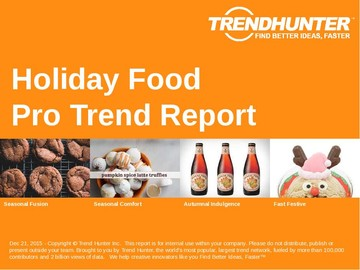 Holiday Food Trend Report and Holiday Food Market Research