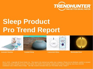 Sleep Product Trend Report and Sleep Product Market Research