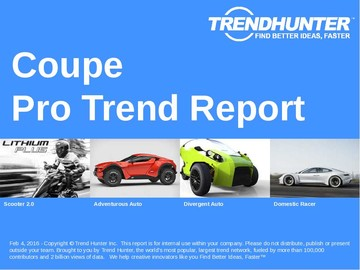 Coupe Trend Report and Coupe Market Research
