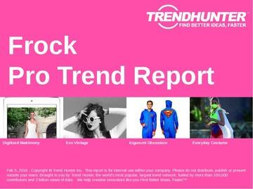 Frock Trend Report and Frock Market Research