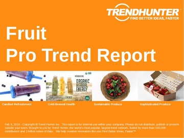 Fruit Trend Report and Fruit Market Research