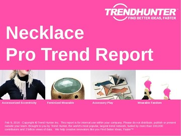 Necklace Trend Report and Necklace Market Research