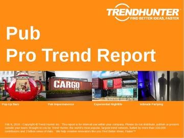 Pub Trend Report and Pub Market Research