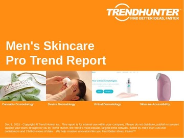 Men's Skincare Trend Report and Men's Skincare Market Research