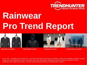 Rainwear Trend Report and Rainwear Market Research