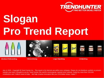 Slogan Trend Report and Slogan Market Research