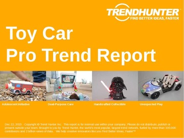 Toy Car Trend Report and Toy Car Market Research