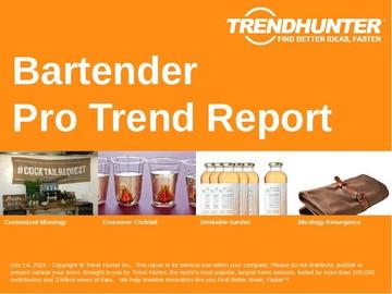 Bartender Trend Report and Bartender Market Research