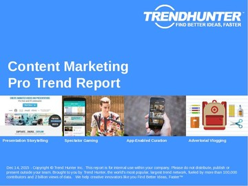 Content Marketing Trend Report and Content Marketing Market Research
