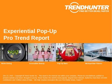 Experiential Pop-Up Trend Report and Experiential Pop-Up Market Research