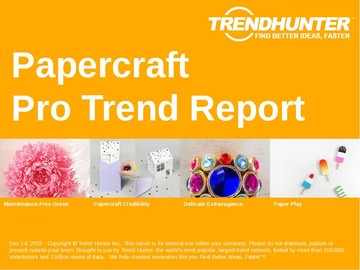 Papercraft Trend Report and Papercraft Market Research