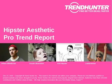 Hipster Aesthetic Trend Report and Hipster Aesthetic Market Research
