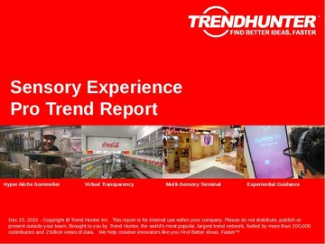Sensory Experience Trend Report and Sensory Experience Market Research
