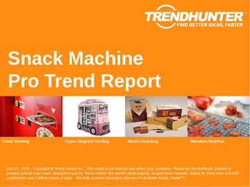 Snack Machine Trend Report and Snack Machine Market Research