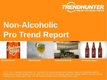 Non-Alcoholic Trend Report and Non-Alcoholic Market Research