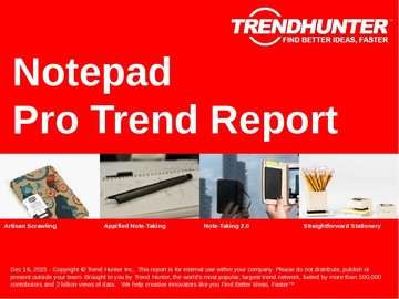 Notepad Trend Report and Notepad Market Research