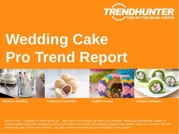 Wedding Cake Trend Report and Wedding Cake Market Research