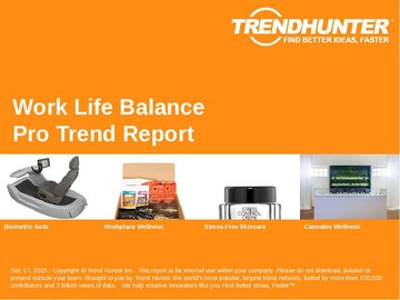 Work Life Balance Trend Report and Work Life Balance Market Research