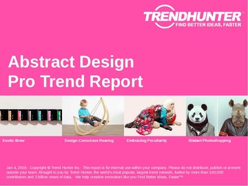Abstract Design Trend Report and Abstract Design Market Research