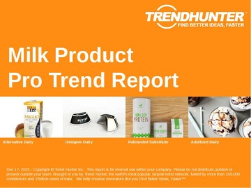 Milk Product Trend Report and Milk Product Market Research