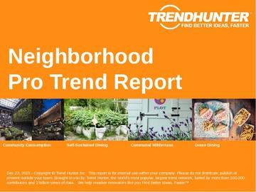 Neighborhood Trend Report and Neighborhood Market Research