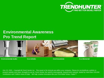 Environmental Awareness Trend Report and Environmental Awareness Market Research