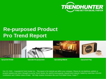 Re-purposed Product Trend Report and Re-purposed Product Market Research