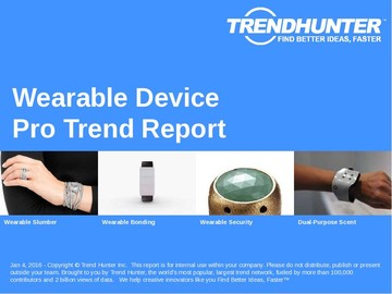 Wearable Device Trend Report and Wearable Device Market Research