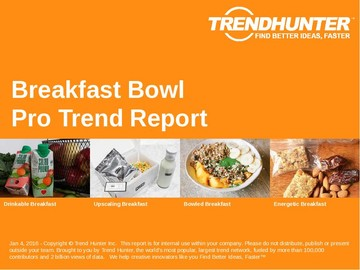 Breakfast Bowl Trend Report and Breakfast Bowl Market Research