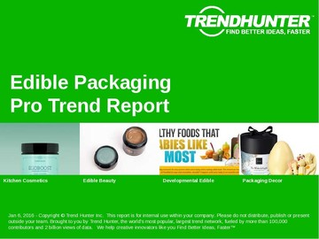 Edible Packaging Trend Report and Edible Packaging Market Research